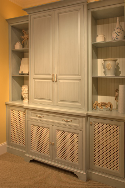 A beaded inset door and drawer style is similar to a flush inset door but  an additional molding is